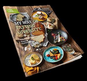 De cover van de nieuwe culinaire brochure Taste Slovenië