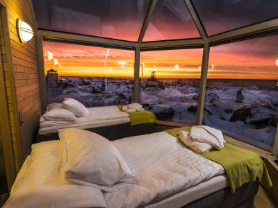 Kalle's Inn glazen iglo hut Finland