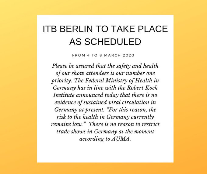 ITB Berlin 2020 go or no go