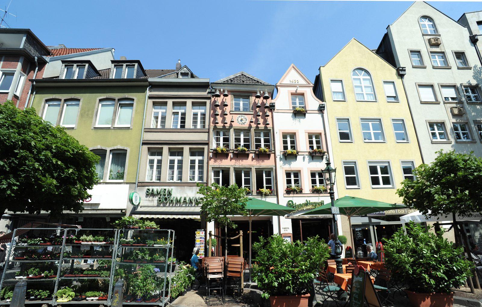 Gevels in binnenstad Dusseldorf