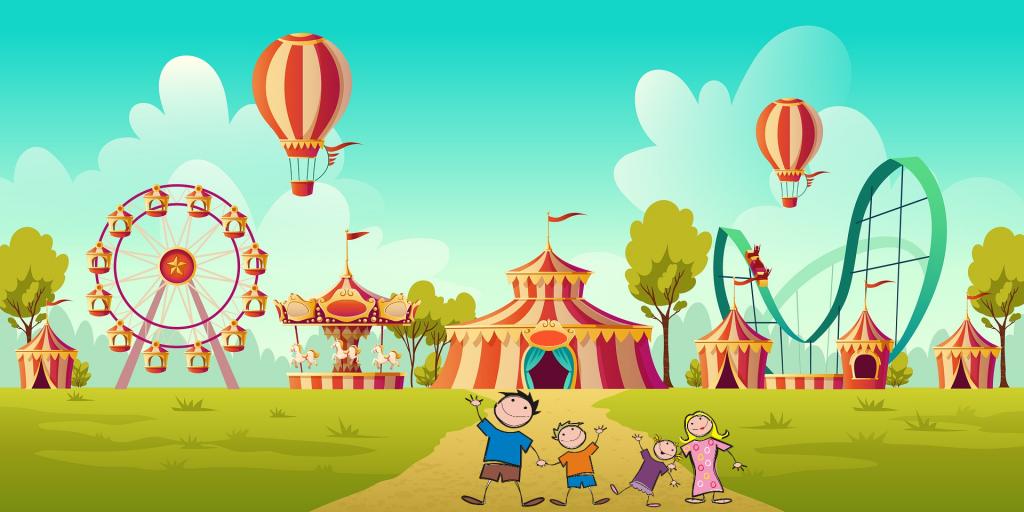 illustration amusement park